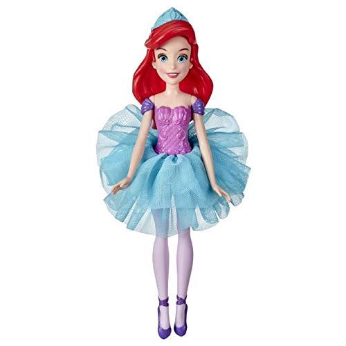 Disney Prinzessin Wasserballett Arielle Puppe, Farbwechselndes Outfit in warmem Wasser, für Mädchen ab 3 Jahren, Disneys Arielle, die Meerjungfrau
