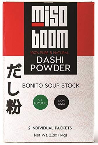 Dashi Powder, 2.2 lb. Dashi Stock Umami Powder, Dashi Granules for Dashi Broth, Bonito Soup Base and Kombu Powder, Japanese Soup Base Instant Dashi Powder, Japanese Dashi Soup Base. By MisoBoom.