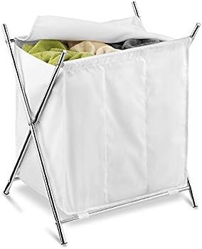 Honey-Can-Do Folding Triple Laundry Sorter