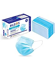 Bildos R-06122088, CE Certified Surgical 3ply Disposable Mask Respirator (Blue, 100 Unit In Box) for Unisex