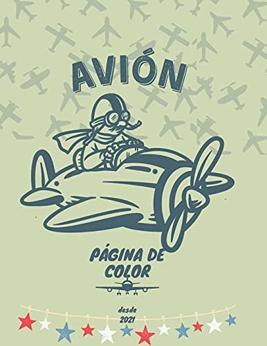 AVIÓN PÁGINA DE COLOR: Gran libro para colorear para niños de 2 a 10 años