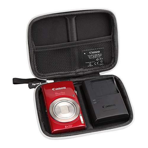 Aproca Hard Travel Storage Case for Canon PowerShot ELPH 180 Digital Camera (Black)