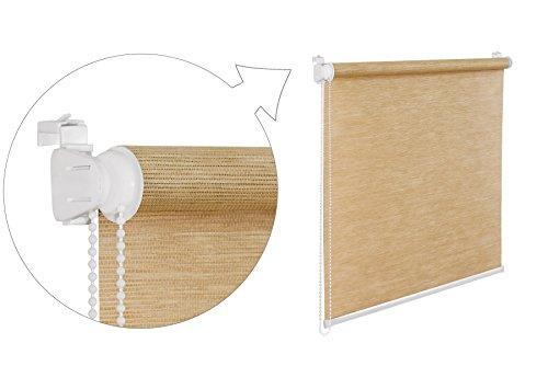 SK Store de fen/être Effet bambou Beige 110/x 200/cm Store occultant avec supports de serrage sans per/çage toutes les dimensions Shop.