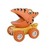Dinosaurier Autos für Kinder, Dinoautos Spielzeug Dinosaurier-Schiebewagen mit Großem Reifenrad Realistischer, Dino T-Rex Triceratops Tierautomatikauto Spielzeug 3-8 Jahre Alte Jungen Mädchen