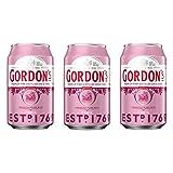 Gordons 742486 Premium Pink Distilled Gin & Tonic - Juego de 3 Bebidas alcohólicas (Bote de 10% de Capacidad, 330 ml, Incluye Recipiente de 0,25 DPG)