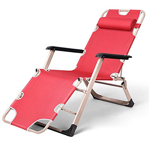 CZLWZZD Duty Zero Gravity Chaises Garden Patio Deck Chair Folding Inclinable Chairs Beach Outdoor Lounge Chair (Bleu) Intérieur extérieur