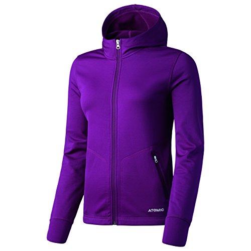 Atomic, Damen Fleece-Jacke mit Kapuze, Ski und Freizeit, Alps Fleece Hoody, Polyester/Elasthan, Größe: XS, Lila, AP5028330