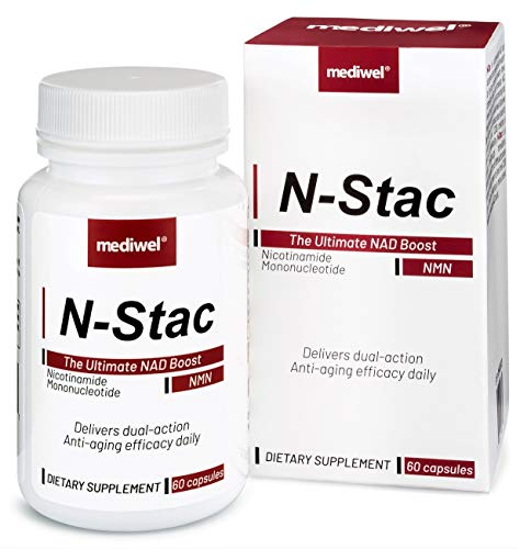 N-Stac-The Most Bioavailable NMN Supplement With Dual-Action NAD Support - Pharmaceutical Grade-Made in USA