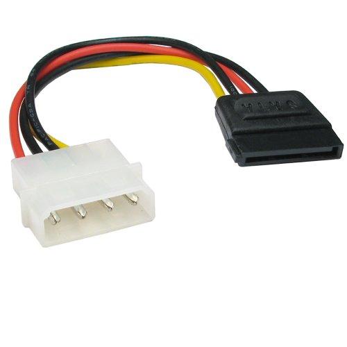Molex LP4 4 Pines a SATA 15 Pines Energía Adaptador Cable Cable