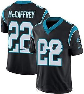 Carolina Panthers # 22 American Football Trikot, Christian Mccaffrey 22# Stickerei Rugby Trikot Männer Frauen Fans Trikots Sportswear T-Shirt Schnelltrocknend Atmungsaktiver V-Ausschnitt