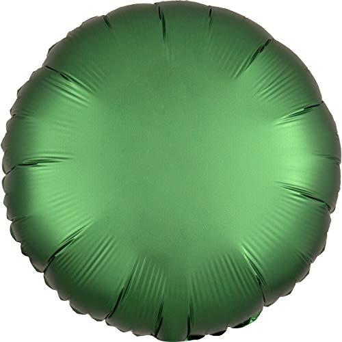 Amscan 3858601 Folienballon Standard Satin Luxe Emerald Rund, Grün