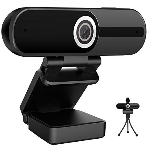 Webcam 4K HD Computer Camera 8MP Microphone PC Web Camera, Full Widescreen Laptop USB Webcams, Privacy Shutter, Tripod, Mac Desktop Notebook Webcam,Video Calling Recording Webcam