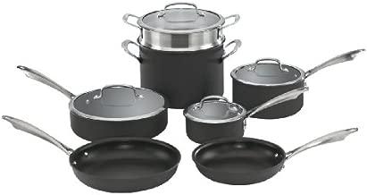 Cuisinart DSA-11 Dishwasher Safe Hard-Anodized 11-Piece Cookware Set, Black