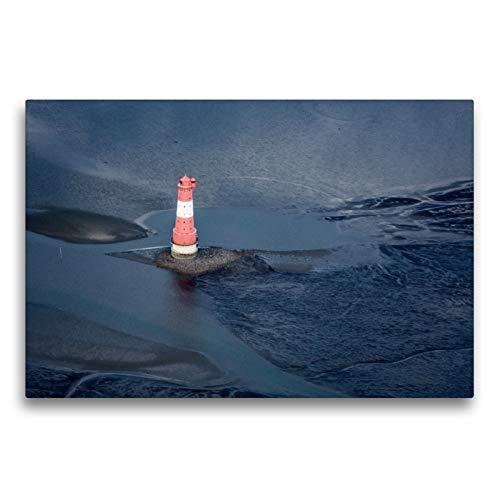 CALVENDO Premium Textil-Leinwand 75 x 50 cm Quer-Format Arngaster Leuchtturm, Leinwanddruck von Andreas Klesse
