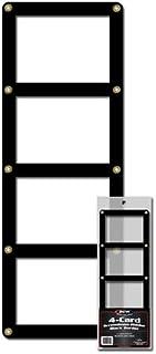 BCW 1-4CS-B 4 Card Screwdown Holder - Black Border