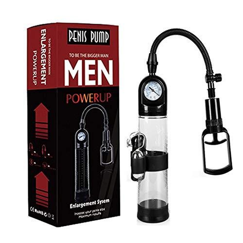 YUJIAN Massagetoy- Handbuch Pennispump für Männer d □ CK-Verbesserungshärte Erhöhen Sie die Größe sicherer Luftdruckwerkzeuge mit Manometer