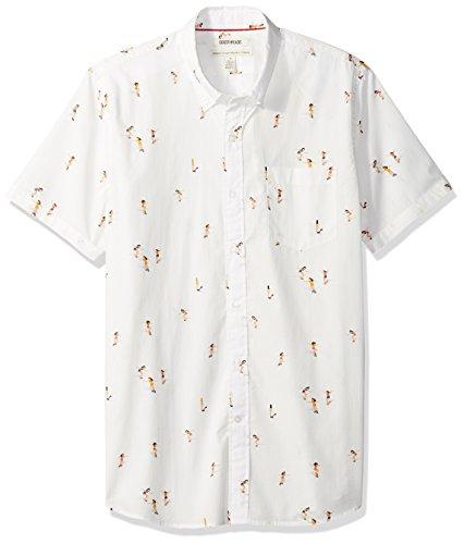 Amazon Brand - Goodthreads Men's Standard-Fit Short-Sleeve Printed Poplin Shirt, Skateboards, Large