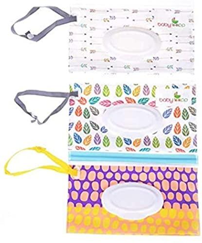 Bolsa de toallitas para bebé dispensador de bolsas de toallitas portátiles AOOF Travel Clutch dispensador titular para bebé o toallitas personales