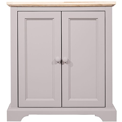 Florence Corner Sideboard. Very sturdy Dove Grey Corner cupboard with shelf, FULLY ASSEMBLED