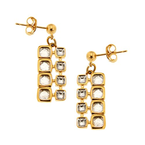 Bijoux pour tous 1200251BI - Pendientes para mujer (latón)