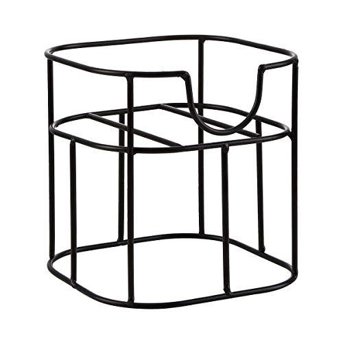 BUTLERS Refresh Getränkehalter 15x15x20 in Schwarz - Metallständer für Getränkespender mit Zapfhahn - Design-Halterung