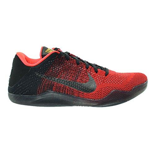 NIKE Men's Kobe Xi Elite Low, Achilles Heel-University RED/Metallic Gold-Black-Bright, 10 M US
