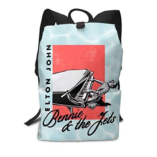 Homebe Rucksäcke,Daypack,Schulrucksack Für Jungen und Mädchen, Elton Greatest Hits 1970-2002 John School College Bookbag for Girls Boys Fashion Travel Back Pack