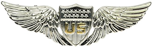 Sujak Military Items Early Pilot Wings Two Tone Hat or Lapel Pin Hon16159