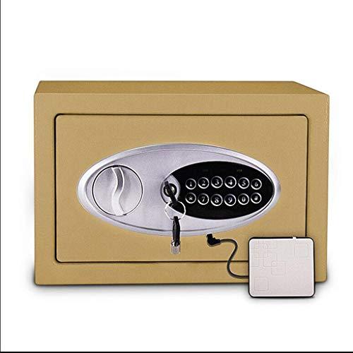 Zhedyi Sterke, diefstalbeveiliging, volledig van veiligheidsstaal, klein, 20 cm, voor huisdeur, vuurvast, wandkist, robuust kastslot in de kast