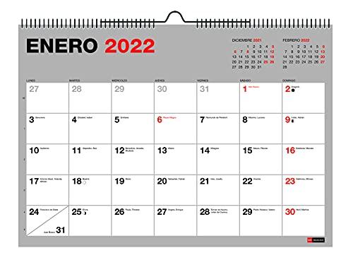 Miquelrius - Calendario Pared 2021-2022, 18 Meses (Julio 2021 - Diciembre 2022), Tamaño A4 29.7 x 21 cm, Basic