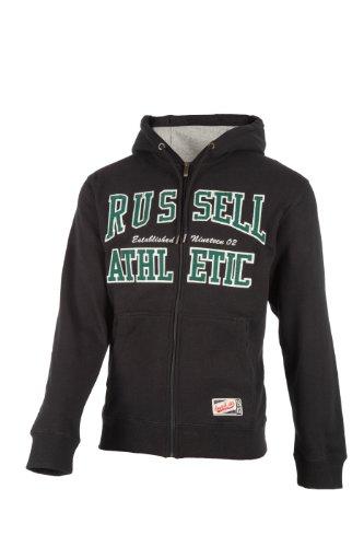 Russell Athletic Herren Hoodie Zip Through, Schwarz, S