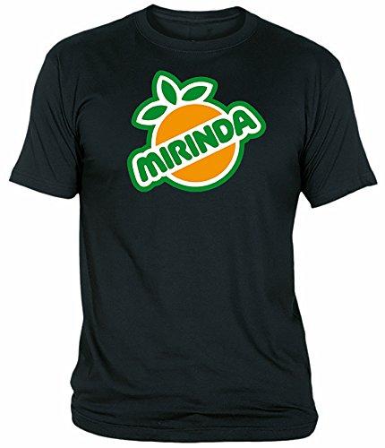 Desconocido Camiseta Mirinda Adulto/niño EGB ochenteras 80´s Retro (L, Negro)
