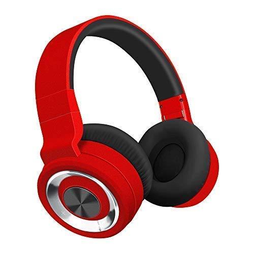 Alitoo Bluetooth Cuffie, Senza Fili Headphones Pieghevole Auricolari Wireless Over Ear Cuffie con Microfono Audio Stereo HiFi, Compatibili con Smartphone, Smart TV (Rosso)