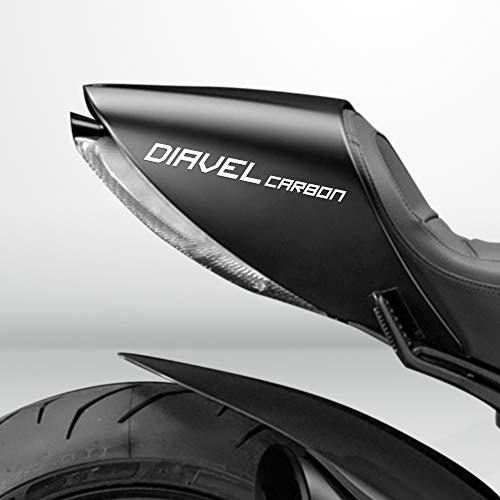 Weiß Glanz Motorrad Superbike Aufkleber Abziehbild Packung Wasserdicht Hochwertig für Ducati Diavel Carbon