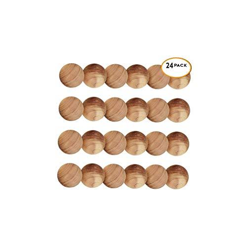 Lvcky 24Pièces de Bois de Cèdre Boules antimites Anti-Mites pour Tue-Mites–100% Bio Boules antimites Naturel, Humide, Empêche Les Moule Mustiness