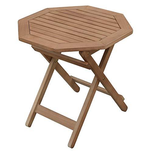 Klapptisch Holztisch Achteckig Gartentisch Balkon Tisch klappbar Gartenmöbel