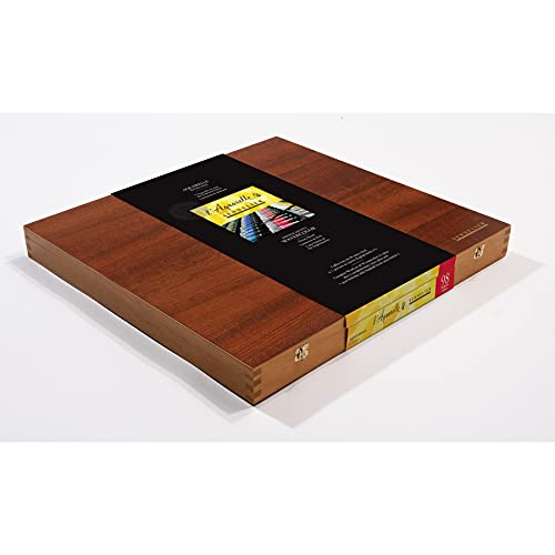 Sennelier French Artists' Premium Watercolor Set in Deluxe Wood Box