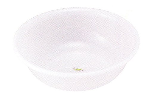 Inomata Japanese Plastic Basin Tub Leaf Series White