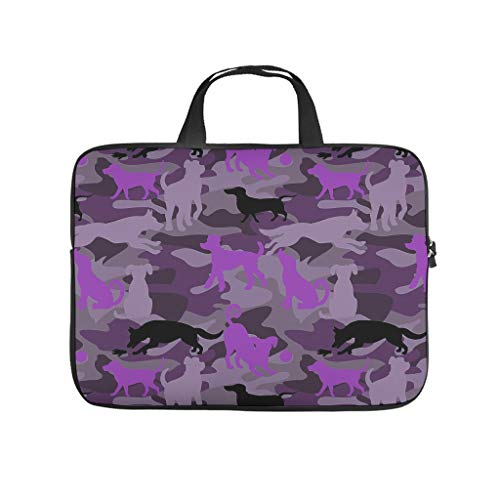 Laptop Computer and Tablet Shoulder Bag Flag Dog Purple Lightweight Laptop for Casual white 17 zoll