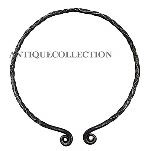 Handmade Iron Viking Warrior Torc Black
