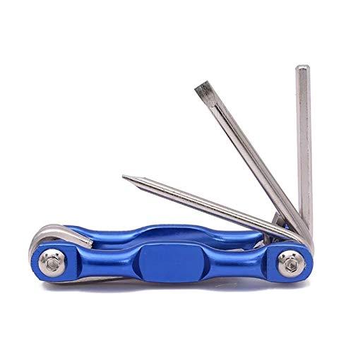 Juego de llave hexagonal plegable STANDED PHILLIPS Destornillador Set Allen Key Destornillador Hexagonal Destornillador Reparación de bicicletas Llave de herramienta ZRONG (Color : Blue)