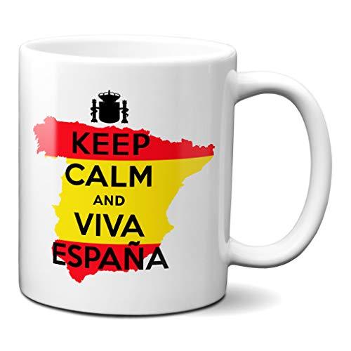 Planetacase Taza Keep Calm and Viva España Ceramica 330 mL