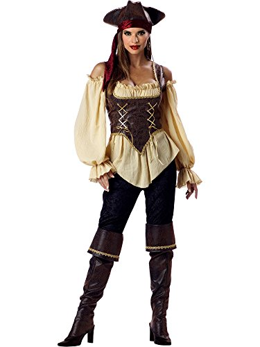 InCharacter Costumes Women's Rustic Pirate Lady Costume Tan/Brown, Small