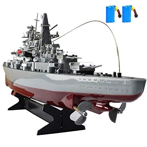 MEILINL 2.4 Ghz RC Ferngesteuertes Mini Kriegsschiff Flugzeugträger Schlachtschiff Schiff Boot Fernsteuerung Hoch Wasserdicht Kinder Erwachsene
