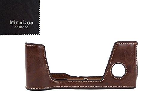 kinokoo cámara funda de piel mitad inferior caso inferior de piel sintética para Fujifilm X-Pro2open-able