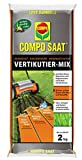 COMPO SAAT Vertikutier-Mix, Semilla de césped, Fertilizante de césped y Activador de suelo, 2 kg, 66 m²