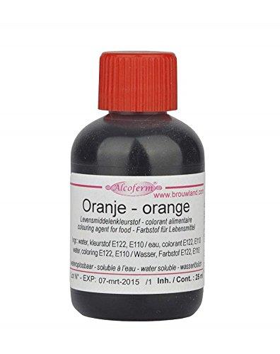 Food Colouring Liquid - Orange 25ml - Kleurstoffen voor voedsel | Edible Liquid Colouring | voor het kleuren van cakes, koekjes, drankjes, verleden