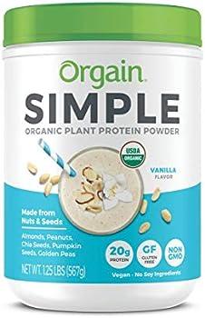 Organic Plant Vanilla Vegan Dairy Gluten Free Protein Powder
