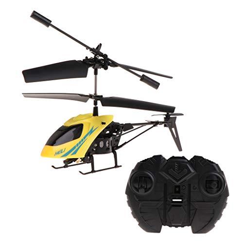 William-Lee 2 CH Mini RC Helicóptero a Control Remoto Radio de aviación eléctrica Micro 2 Canales Colorido Iluminación Lámpara Powered Visión Nocturna Material Resistente
