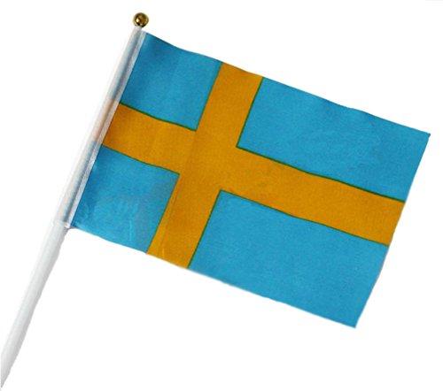 Vikenner Banderas de Mano Postes de plástico para Festivales, Fiestas, Fiestas, Eventos Deportivos, Bodas, 2018, Banderas Nacionales de Bélgica